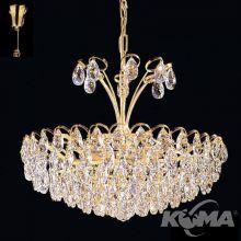 Kryształ SPECTRA® Swarovski® lampa wisząca złota 6x40W E27 śr47cm 24karat gold