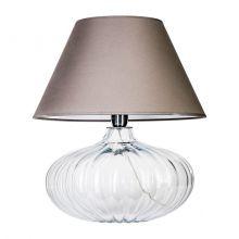 Brno lampa stołowa 1x60W E27 230V transparentna / szary abażur