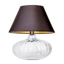 Brno lampa stołowa 1x60W E27 230V transparentna / czarno-złoty abażur
