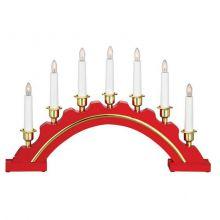 Celine Candlestick świecznik 7x3W E10 czerwony