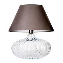 Brno lampa stołowa 1x60W E27 230V transparentna / ciemnoszary abażur