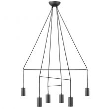 Imbria lampa sufitowa 6x35W GU10 230V czarna