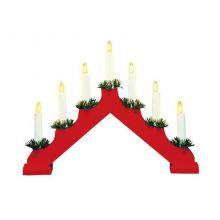Ola 7 Candlestick świecznik 7x3W E10 czerwony