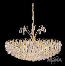 Kristall oprawa osw. 8pl 40W/E14 60cm gold