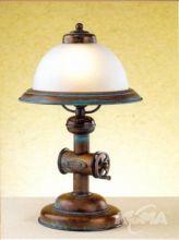 Coffee lampa stołowa 1x28W E14 zieleń antyczna/klosz matowy
