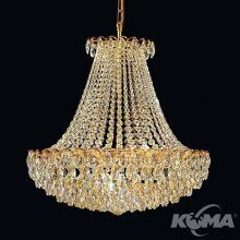 Classic Empire żyrandol lampa wisząca 8x60W E27 230V złoty