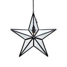 Ansgar dekoracja wisząca gwiazda 1x25W E14 230V czarna