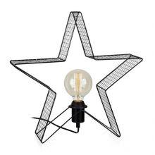Holger dekoracja stołowa gwiazda 1x40W E27 230V czarna