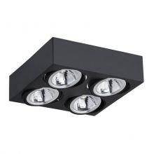 Rodos LED lampa sufitowa 4x5W LED 230V czarna