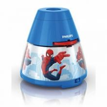 DISNEY Spiderman lamka nocna led 1x0,1w+3x0,3W