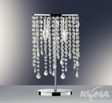 Rain tl2 lampa stolowa 2x40W E14 chrom