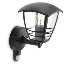 Creek wall lantern black 1x60W 230V kinkiet zewnetrzny Z czujka czarny