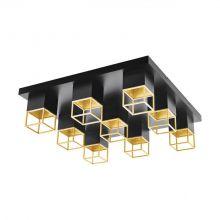 Montebaldo oprawa sufitowa plafon czarny/złoty 9x5W 9x400lm 3000k
