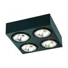 Rodos lampa sufitowa 4x48W G9 230V czarna