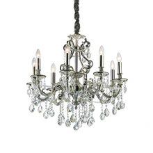 Gioconda żyrandol lampa wisząca 8x40W E14 230V srebrna