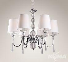 Charlotte lampa wisząca 6x40W E14 230V chrom / biały abażur