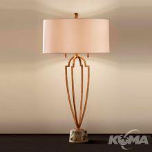 Ansari lampka stołowa 2xe27/60w  brąz