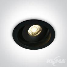 Kawala lampa wpuszczana w sufit 7W 3000K 600lm led dark light czarny