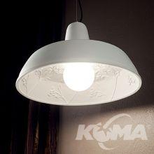 Moby lampa wisząca 1x60W E27 230V gesso