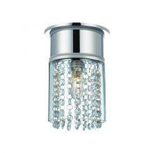 Hjuvik lampa sufitowa łazienkowa 1x40W G9 230V chrom/transparentna