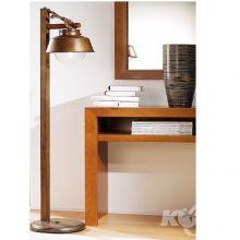 Amarras lampa podlogowa E2760W ziemisty brąz/szkło bąbelkowe