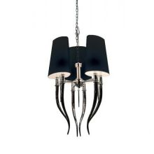 Diablo 3 lampa wisząca 6x11W E14 230V czarna/chrom