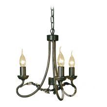 Olivia żyrandol czarno-złoty 3 x 60W E14