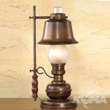 Rustica lampka biurkowa 1x42W E14 ziemisty brąz/matowe szkło