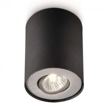 Pillar lampa sufitowa 1x50W GU10 230V czarna/aluminium