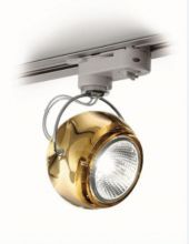Beluga colour reflektor na szyne 1x75W GU10 bursztynowy