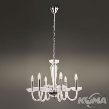 Iris lampa wisząca 6x40W E14 230V transparentna