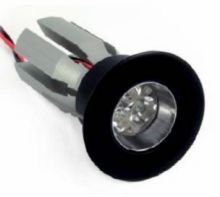 Anton chrome 3 leds 630 ma 6W power multichip 15st IP44 czarna, biala ciepla