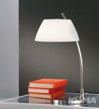 Malmo lampa stołowa 1x60W E27 50cm nikiel/biały