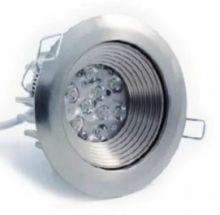 Ajust 9 leds 630 ma 18W power multichip 15st IP40 nikiel, biala ciepla