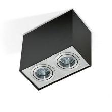 Eloy 2 lampa sufitowa 1x50W GU10 230V czarna/aluminium