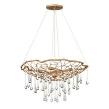 Laguna_4 lampa wisząca 4x40W E14 złoty szczotkowany