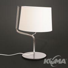 Chicago lampa stołowa 1x100W E27 230V chrom + biały abażur