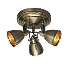 Fjallbacka lampa sufitowa reflektor 3x40W E14 230V antyczny