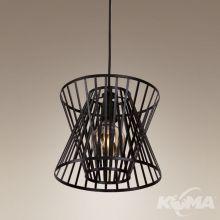 Loft lampa wisząca 1x23W E27 230V czarna