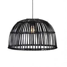 Cottage lampa wisząca czarna 1x60W E27