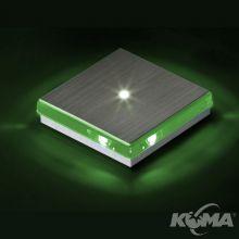 Renk oprawa wpuszczana ścienna 1x1W LED 230V aluminium/zielona