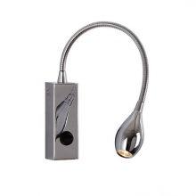 Snake kinkiet LED 1x3W 230V chrom