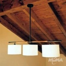 Danona 3 luces oprawa wiszaca 3x100W E27 skora cuir bawelna