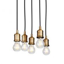 Baloon V lampa wisząca 5x23W E27 230V złota