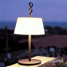 Ferrara lampa stolowa 2x60W E27 braz/bawelna h61cm