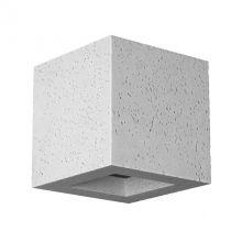 Korytko 12 wysokie z dolnym szkłem 1x40W G9 230V beton jasny