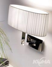 Oval A/02 kinkiet 1x46W E27  chrom z czarnym szkłem/biała plisa