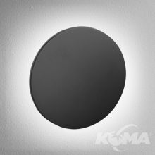 Maxi Point round kinkiet wpuszczany 6W LED 3000K 230V czarny mat
