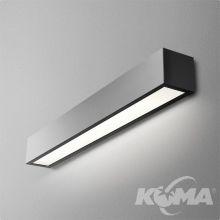 Set Aluline kinkiet 58cm. 24W LED 230V czarny (mat)