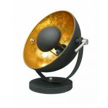 Antenne lampa stołowa 1x60W E27 230V czarno-złota